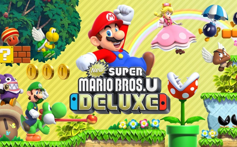 Review of New Super Mario Bros. U Deluxe — The Wii U clogs 'em, the Switch clears 'em
