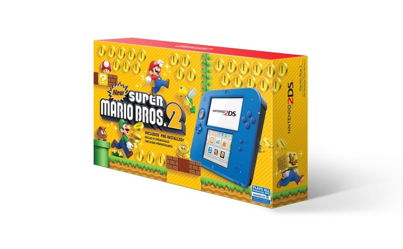 A Nintendo 2DS Electric Blue System with New Super Mario Bros. 2 Coming Soon!